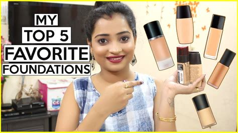 My Top 5 Foundations by My Top 5 Favorite Foundations For Indian Skin Tone