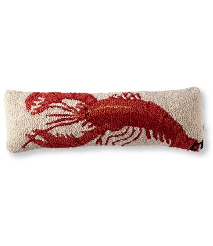 Ll Bean Pillows by Wool Hooked Throw Pillow Lobster