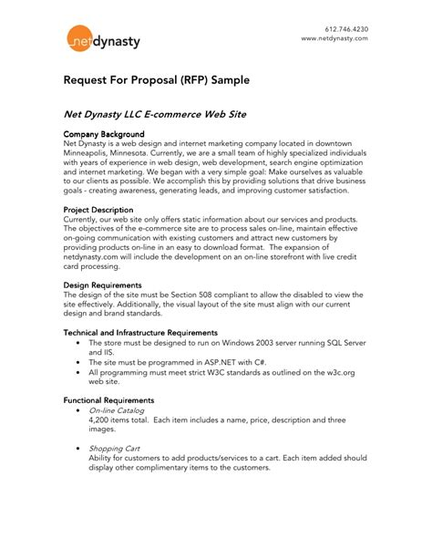 Net Dynasty Rfp Sle Relations Rfp Template