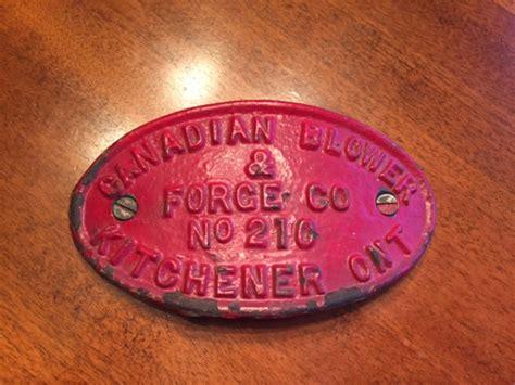 Canadian Blower Amp Forge Company Badge No 210 Jim Nolan