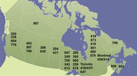 canadian map of area codes phone area code map canada