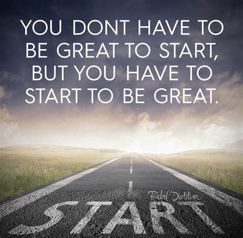 in the beginning a start to a strong finish books you don t to start to be great but you to start