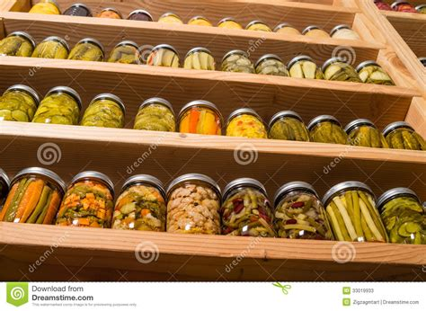 Canned Fruit Shelf by Storage Shelves With Canned Food Stock Image Image 33019933