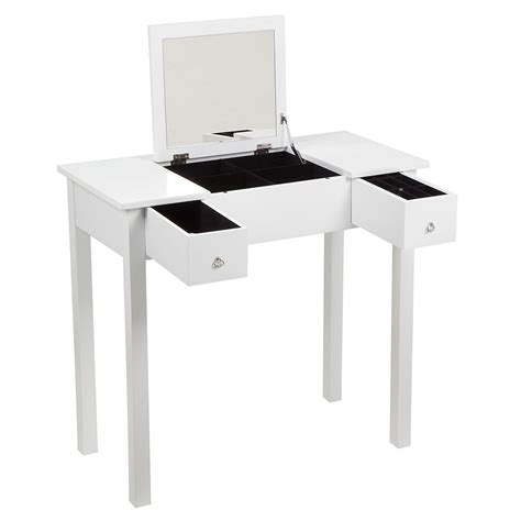 Folding Vanity Table with Bedroom Dressing Room Table With Folding Vanity Mirror Make Up Hair Jewellery Ebay
