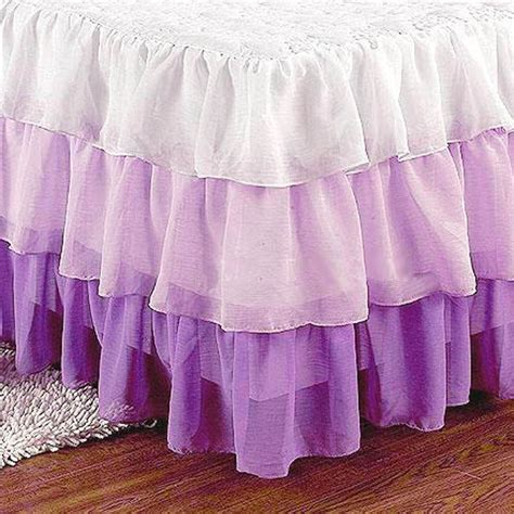 purple ruffle bedding purple bedskirt