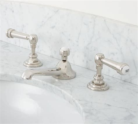 Pottery Barn Bathroom Faucets by Reyes Lever Handle Widespread Bathroom Faucet Pottery Barn