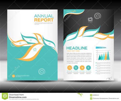 graphic design brochure layout orange green annual report template cover design brochure
