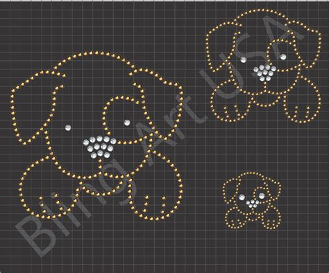 sticky flock rhinestone templates rhinestone files template puppy bling pet