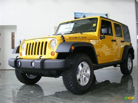 jeep rubicon yellow 2009 detonator yellow jeep wrangler unlimited rubicon 4x4