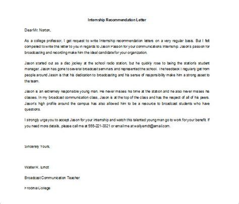 internship letter samples templates livecareer
