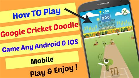 how to play ios on android how to play cricket doodle icc chions trophy any android ios mobile