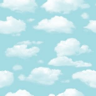wallpaper sticker awan non woven cartoon wallpaper kids blue skye clouds room