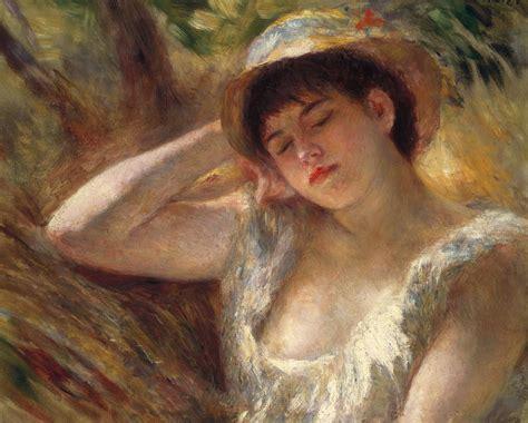 Painting Sleepers by The Sleeper Painting By Auguste Renoir