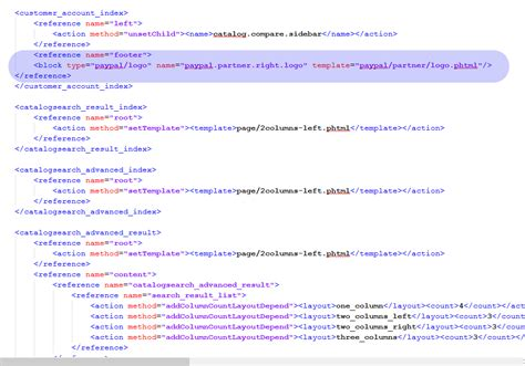 magento layout xml replace block magento how to add paypal logo on customer account page