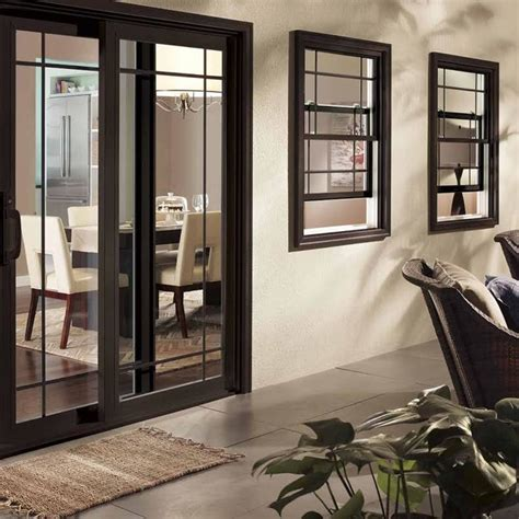 black patio door