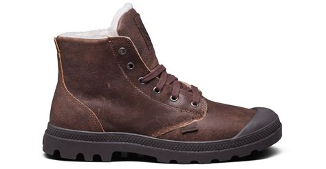 mens wool lined boots palladium mens shoes pa hi leather s wool lined lace up