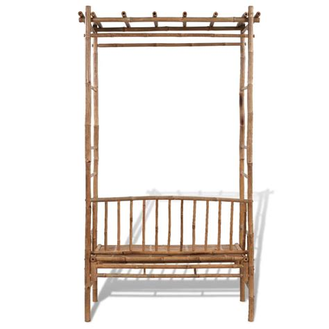 bamboo bench vidaxl co uk vidaxl bamboo bench with pergola
