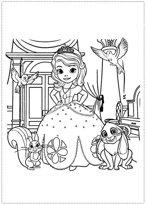 happy birthday sofia coloring pages sofia the first coloring pages birthday printable
