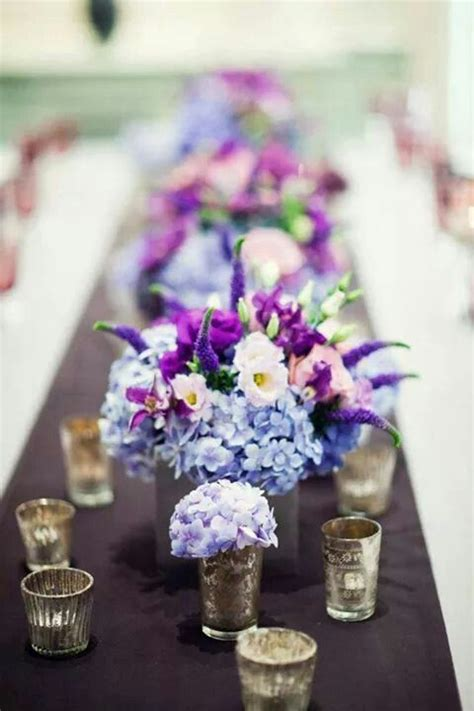 light blue flower arrangements beautiful light blue purple hydrangea and bright orchid