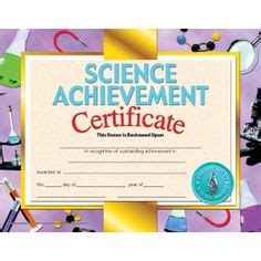 science certificate template four square green border paper create your own invitation