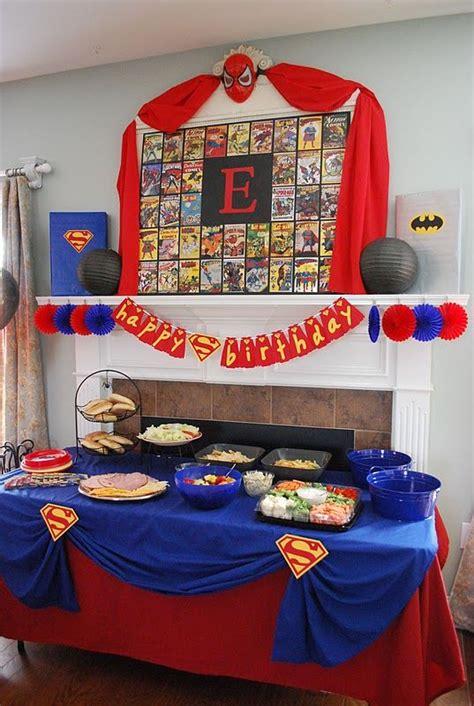 adult superhero party ideas superman party decoration super hero party pinterest