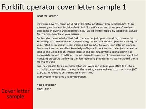 Forklift Driver Cover Letter images