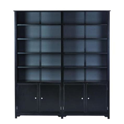 Black Open Bookshelf Home Decorators Collection Oxford 5 Shelf Open