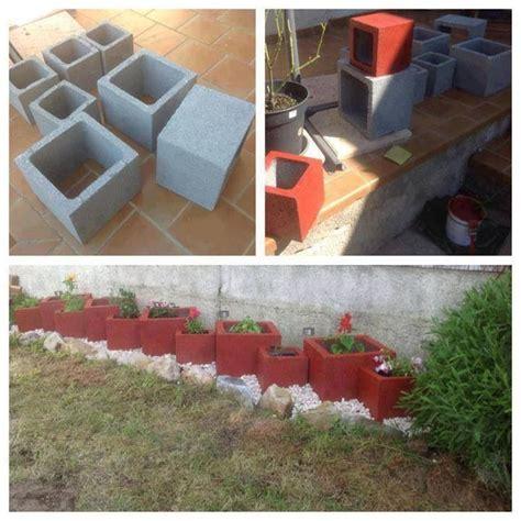 Planter Blocks by Painted Cinder Blocks As Planters Dyi Ideas Gardening