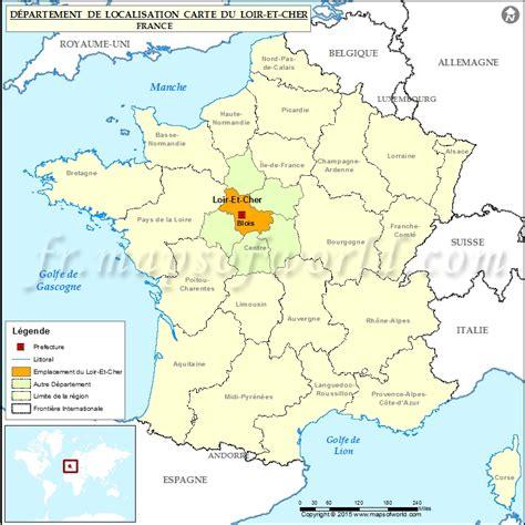 Loir et Cher Carte de localisation, département de Loir et Cher, France