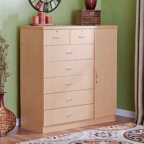 cabinet for clothes natural bedroom dresser 7 drawers chest storage cabinet