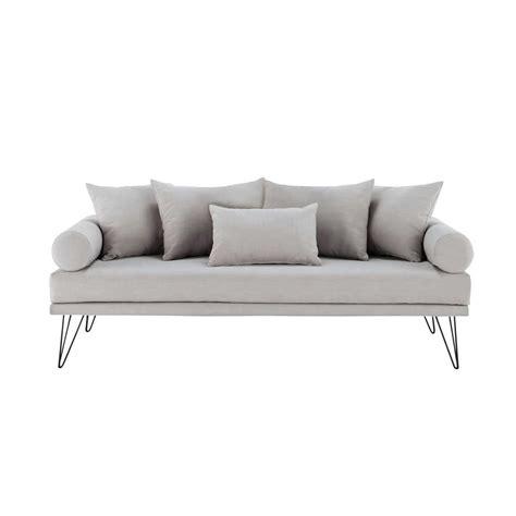 divanetto vintage divanetto vintage grigio chiaro in tessuto 2 3 posti