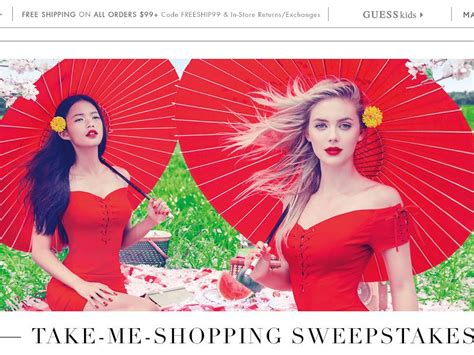 Shopping Sweepstakes - guess com take me shopping sweepstakes