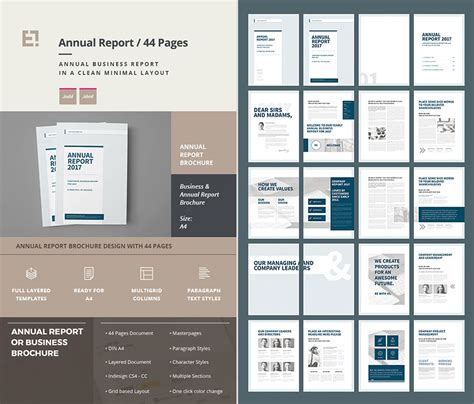 annual report templates 15 annual report templates with awesome indesign
