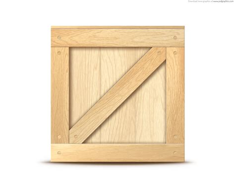 in crate wooden crate icon psdgraphics