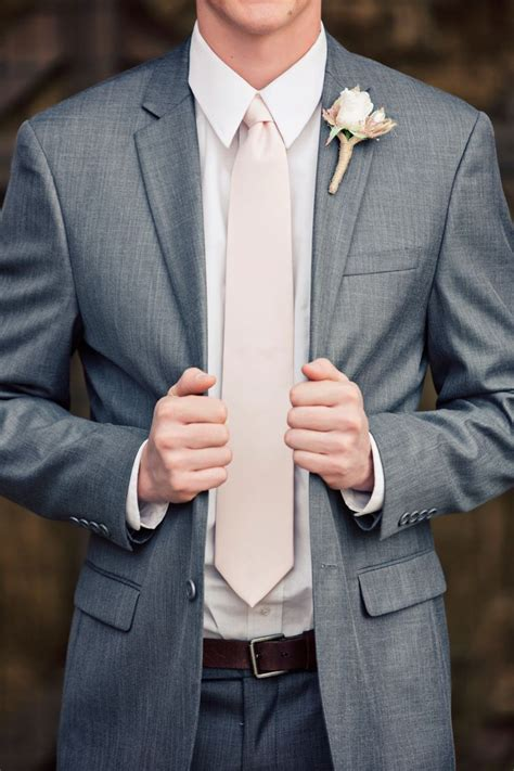 groomrusticweddingboutineerneutralscountrygrey suit