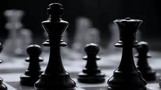 Chess black and white wallpaper
