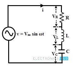 voltage across resistor rlc circuit ac capacitive circuits