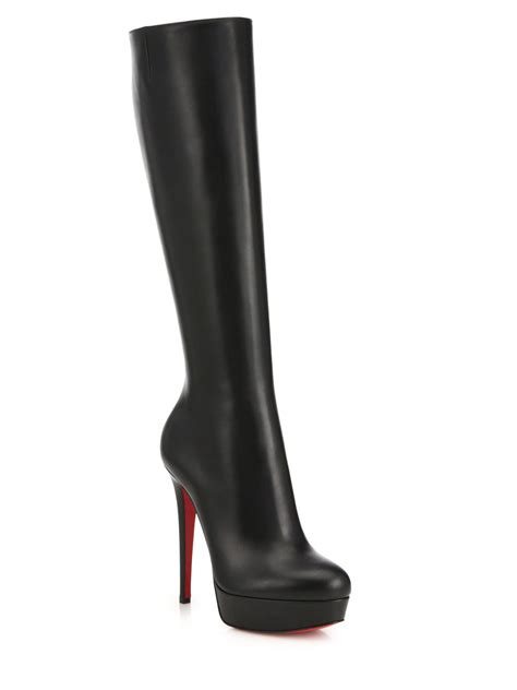 christian louboutin leather knee high boots in