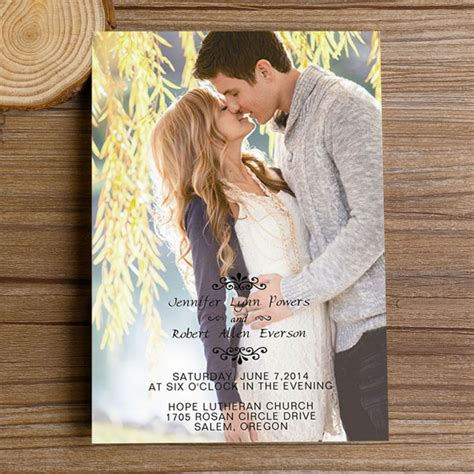 photo wedding invitations special wednesday unique wedding photo ideas