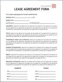 Microsoft Word Rental Agreement Template Lease Agreement Template Incheonfair