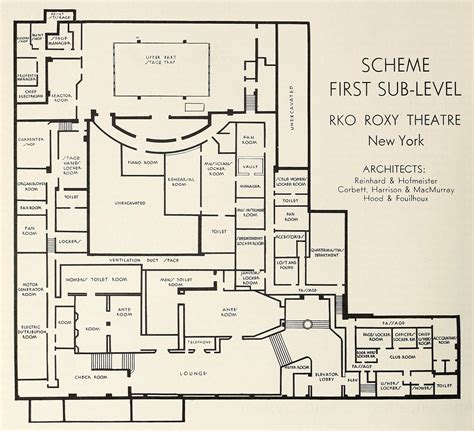 radio city music hall floor plan r k o roxy center theatre vanished nyc art deco part 2