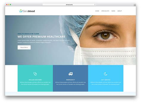 best hospital website 20 best health and themes 2018 colorlib