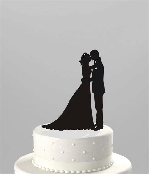 Topper Siluet Wedding Acrilik wedding cake topper silhouette groom and acrylic cake topper ct38k1 2420450 weddbook