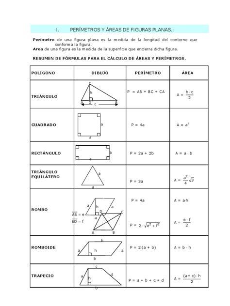 figuras geometricas formulas de superficie per 205 metros y 193 reas volumenes de figuras planas