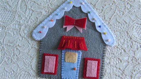 make a house make a felt gingerbread house diy crafts guidecentral
