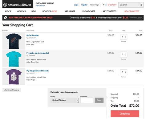 websites like design by humans 7 tips for designing a better checkout page design shack