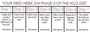an exle of what your week in phase 3 of the hcg diet should look like healthy blogs
