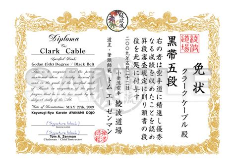 martial arts certificate templates free martial arts certificate custom design kanji and
