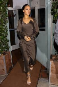 Gold Coverlet Rihanna In The Coordinating Jacket And Slip Dress Vogue