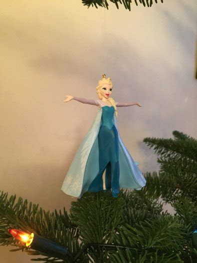 singing elsa christmas tree ornament from disneys frozen